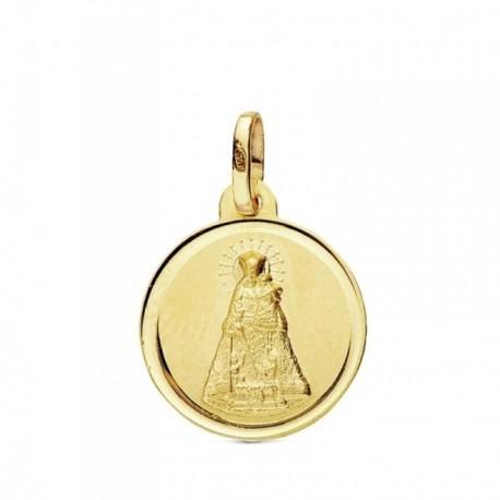 Medalla oro 18k Virgen Desamparados 16mm. [AB3429GR]