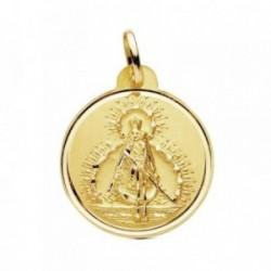 Medalla oro 18k Virgen de la Cabeza 22mm. bisel liso [AB3442GR]