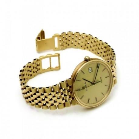 Reloj Cyma oro 18k hombre anilla esfera champán 6359 [AB3897]