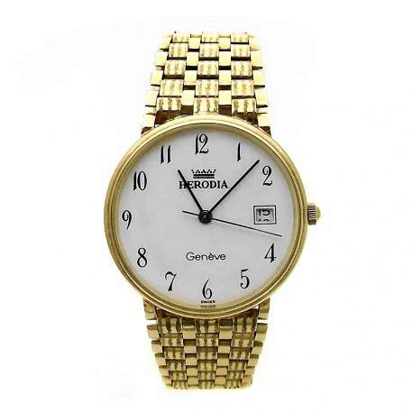 Reloj Herodia oro 18k hombre panter rayado 6412-1 [AB3894]