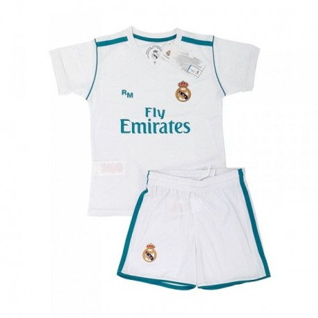 Uniforme Real Madrid réplica oficial junior primera equipación