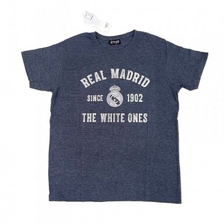 Camiseta Real Madrid adulto gris vigore THE WHITE ONES
