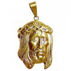 Cabeza rostro cristo oro [474]