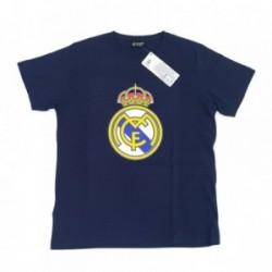 Camiseta Real Madrid adulto marino escudo centro [AB3911]