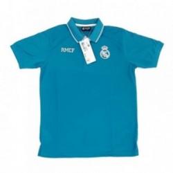 Polo Real Madrid adulto azul escudo blanco [AB3916]
