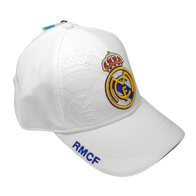 Gorra Real Madrid adulto blanco primer equipo  AB3928  f8d75d2f871