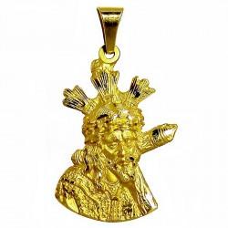 Cabeza rostro cristo oro [475]