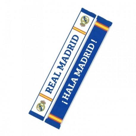 Bufanda Real Madrid tela blanca azul reversible [AB3933]