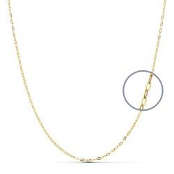 Cadena oro 18k maciza tallada 50 cm. 1 mm. 1.20 grs. [9449]