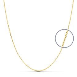 Cadena oro 18k maciza forzada 40 cm. 1 mm. 2.00 grs. [9492]