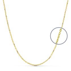 Cadena oro 18k maciza forzada 40 cm. 1.2 mm. 2.60 grs. [9494]