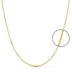 Cadena oro 18k maciza forzada 45 cm. 1.5 mm. 4.10 grs. [9498]