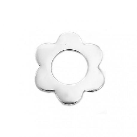 Colgante plata Ley 925m flor margarita grande calado [AB3884]
