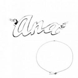 Colgante plata Ley 925m nombre 3 letras curvas ANA [AB4061]