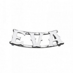 Colgante plata Ley 925m nombre 3 letras EVA [AB4072]