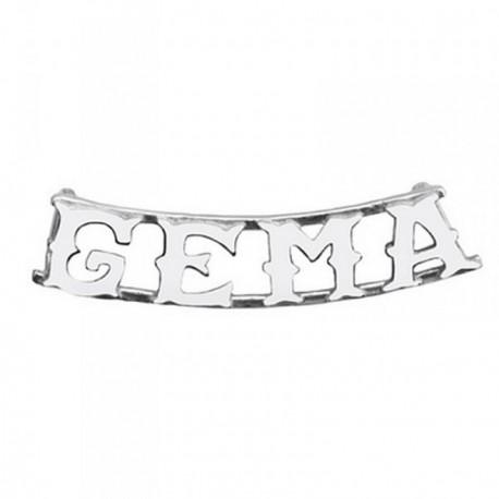 Colgante plata Ley 925m nombre 4 letras GEMA [AB4073]
