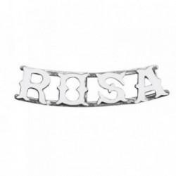 Colgante plata Ley 925m nombre 4 letras ROSA  [AB4074]