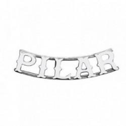 Colgante plata Ley 925m nombre 5 letras PILAR [AB4076]