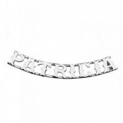 Colgante plata Ley 925m nombre 8 letras PATRICIA [AB4082]