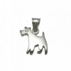 Colgante plata Ley 925m silueta perro lisa 17mm. [AB4115]
