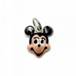 Colgante plata Ley 925m Mickey Mouse esmaltado sonrisa 16mm. [AB4116]