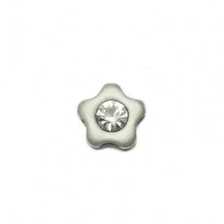 Colgante plata Ley 925m flor centro circonita 15mm. [AB4117]