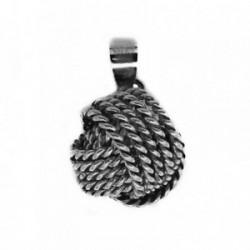 Colgante plata Ley 925m nudo cuerdas 16mm. [AB4129]