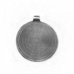Colgante plata Ley 925m redondo espiral 36mm. [AB4131]