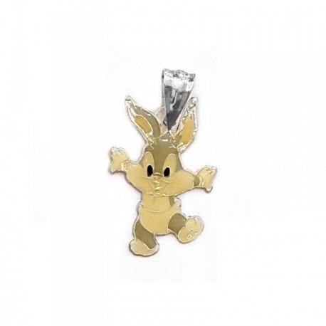 Colgante plata Ley 925m Bugs Bunny bebé esmaltado 20mm. [AB4134]