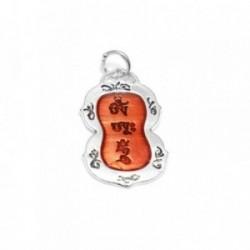 Colgante plata Ley 925m OM AH HUM mantra chakra tibet 33mm. mujer