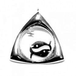 Colgante horóscopo plata Ley 925m Piscis triangular 33mm. [AB4154]