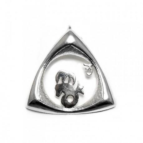 Colgante horóscopo plata Ley 925m Capricornio triangular [AB4157]