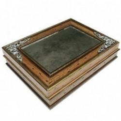 Joyero caja madera espejo envejecido [4319]