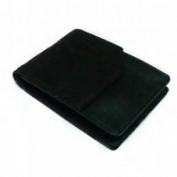 Pitillera piel negra grabada solapa bolsillo detrás [4589]