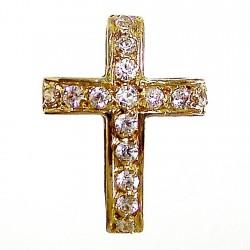 Colgante cruz oro 18k circonita [259]