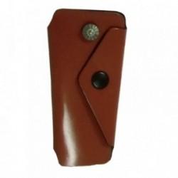 Llavero piel marrón forma [5339]