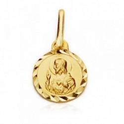 Medalla oro 18k Corazón de Jesús 7 mm. [AB4199]