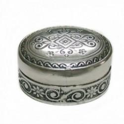 Pastillero plata Ley 925m. motivos grabados [AB4212]