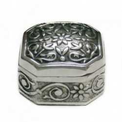 Pastillero plata Ley 925m. motivos grabados [AB4213]