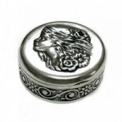 Pastillero plata Ley 925m. motivos grabados [AB4214]