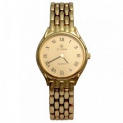 Reloj oro 18k Cyma modelo 6518 panter mujer doble cierre plegado