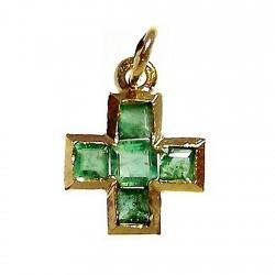 Colgante cruz oro esmeralda [461]