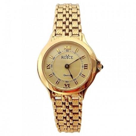 Reloj oro 18k Royce mujer redondo panter brillo liso mate [AB4264]
