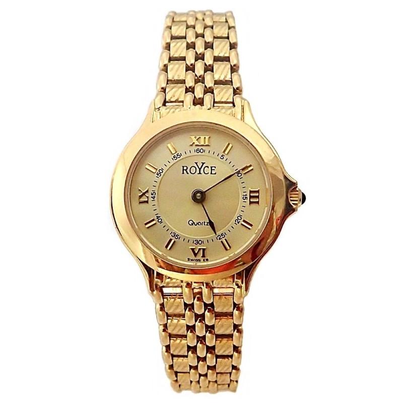 76ee06e0f35a Reloj oro 18k Royce mujer redondo panter brillo liso mate  AB4264