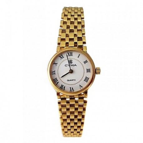 Reloj oro 18k Cyma mujer panter liso brillo [AB4265]