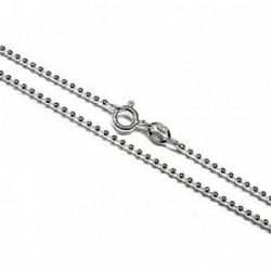 Cadena plata Ley 925m 45 cm. bolitas [AB4275]