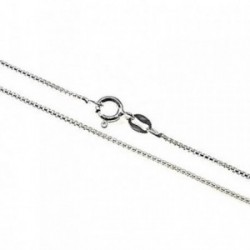 Cadena plata Ley 925m 40 cm. modelo veneciana redonda fina [AB4321]