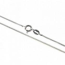 Cadena plata Ley 925m 45 cm. modelo veneciana redonda fina [AB4322]