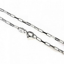 Cadena plata Ley 925m 50 cm. modelo forzada alargada [AB4329]