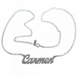 Gargantilla plata Ley 925m nombre Carmen [AB4558]